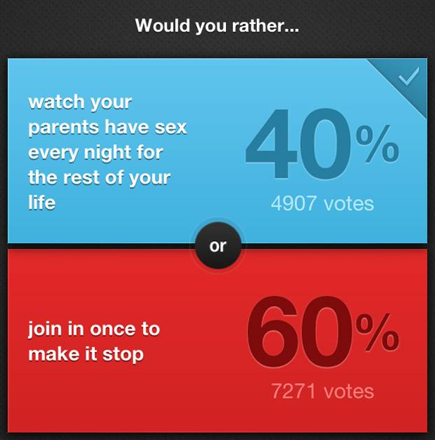 would you rather questions hard